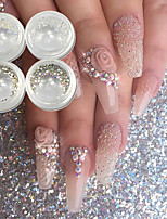cheap -4 pcs Glitter Powder Luminous nail art Manicure Pedicure Wedding / Party Evening / Dailywear Metallic
