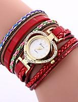 economico -Xu™ Per donna Orologio braccialetto / Orologio da polso Cinese Creativo / Orologio casual / Adorabile PU Banda Heart Shape / Stile Boho Nero / Blu / Rosso