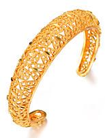 baratos -Mulheres Escultura Bracelete / Pulseiras Algema - Chapeado Dourado Étnico Pulseiras Dourado Para Festa / Presente