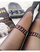 cheap -1 Pair Women's Socks Letter Promotes Good Mood Sexy Polyester EU36-EU42