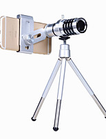 cheap -Mobile Phone Lens Macro Lens / Other Aluminium Alloy 12X Macro 3 m 70 ° Lens with Stand
