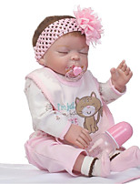 cheap -NPKCOLLECTION Reborn Doll Baby Girl 22 inch Full Body Silicone / Vinyl Kid's Girls' Gift