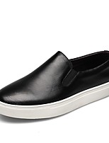 cheap -Men's Shoes Nappa Leather Summer Comfort Loafers & Slip-Ons White / Black