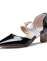 cheap -Women's Shoes PU(Polyurethane) Spring & Summer Basic Pump Heels Chunky Heel Pointed Toe White / Black / Brown