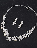 cheap -Women's Jewelry Set - Flower Formal, Fashion Include Bridal Jewelry Sets Silver For Party / Holiday