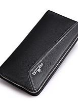 cheap -Men's Bags Cowhide Wallet Zipper Black / Yellow
