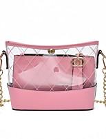 cheap -Women's Bags Plastic / PU(Polyurethane) Bag Set 2 Pieces Purse Set Zipper Black / Red / Blushing Pink