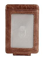 cheap -Men's Bags Nappa Leather Wallet Zipper Coffee
