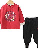 cheap -Kids Unisex Solid Colored / Print Long Sleeve Clothing Set