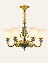 cheap -QIHengZhaoMing 6-Light Candle-style Chandelier Ambient Light 110-120V / 220-240V, Warm White, Bulb Included / 15-20㎡