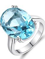 economico -Per donna Acquamarina sintetica / Zircone cubico non corrispondenti Band Ring - Vintage, Elegante 6 / 7 / 8 Azzurro chiaro Per Matrimonio / Fidanzamento / Cerimonia