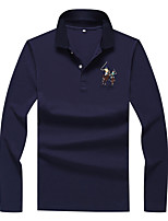 cheap -Men's Cotton Polo - Portrait Shirt Collar / Please choose one size larger according to your normal size. / Long Sleeve