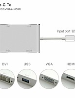 abordables -Type-C 1 à 4 Adaptateur Macbook / MacBook Air / MacBook Pro pour 13.5 cm Pour Aluminium