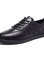 cheap -Men's Shoes PU(Polyurethane) Fall Comfort Sneakers White / Black / Gray