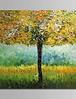 abordables -Peinture à l'huile Hang-peint Peint à la main - A fleurs / Botanique Rétro Toile