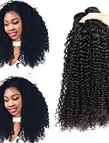 economico -3 pacchetti Brasiliano Riccio Cappelli veri Ciocche a onde capelli veri / Extension di capelli umani 8-28 pollice Colore Naturale Tessiture capelli umani Senza tappo Disegni alla moda / Migliore