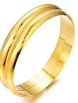 baratos -Mulheres Escultura Bracelete / Pulseiras Algema - Chapeado Dourado Étnico Pulseiras Dourado Para Festa / Presente / 2pcs