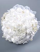 abordables -Fleurs de mariage Bouquets Mariage / Fête de Mariage Dentelle / Mousse 11-20 cm