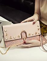 cheap -Women's Bags PU(Polyurethane) Wristlet Sequin / Rivet Black / Blushing Pink / Gray