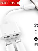 abordables -Eclairage Adaptateur de câble USB 1 à 2 Adaptateur Pour iPhone 12 cm PVC