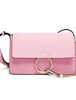 cheap -Women's Bags Cowhide Shoulder Bag Buttons Blushing Pink / Gray / Yellow