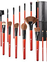 baratos -16pçs Pincéis de maquiagem Profissional Conjuntos de pincel Fibra de Nailom Amiga-do-Ambiente / Macio Plástico