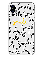 cheap -Case For Apple iPhone X / iPhone 8 Plus Pattern Back Cover Word / Phrase Soft TPU for iPhone X / iPhone 8 Plus / iPhone 8