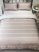 Недорогие -Пододеяльник наборы Stripes / Рябь 100% хлопок С принтом 4 предмета