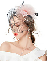 cheap -Women's Vintage / Elegant Hair Clip / Fascinator - Solid Colored Flower / Mesh