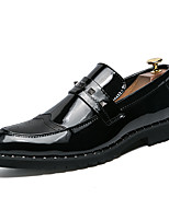 cheap -Men's Shoes Patent Leather Spring Comfort Loafers & Slip-Ons Black / Party & Evening