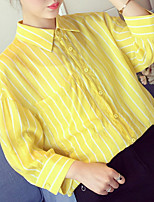 cheap -women's shirt - striped shirt collar