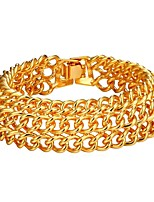 abordables -Homme Effets superposés Bracelet - Mode Bracelet Or / Argent Pour Cadeau / Quotidien