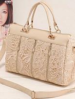 cheap -Women's Bags PU(Polyurethane) Shoulder Bag Zipper White / Black