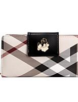 cheap -Women's Bags PVC(PolyVinyl Chloride) Wallet Zipper Black / Almond / Wine