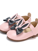 cheap -Girls' Shoes PU(Polyurethane) Spring & Summer Comfort / Flower Girl Shoes Flats Walking Shoes Bowknot / Magic Tape for Kids White / Blue / Pink