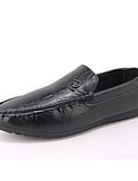 abordables -Homme Chaussures Polyuréthane Eté Confort Mocassins et Chaussons+D6148 Noir / Marron