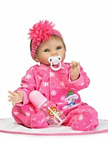 cheap -NPKCOLLECTION Reborn Doll Baby Girl 24 inch Silicone - Artificial Implantation Blue Eyes Kid's Girls' Gift