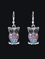 cheap -Women's Mismatched Drop Earrings - Owl Basic, Cartoon, Renaissance Rainbow For Holiday / Going out