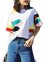 cheap -Women's Going out T-shirt - Color Block