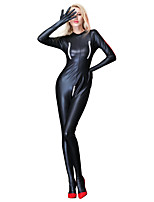 cheap -Cosplay Costume Zentai Cosplay Costumes Black Solid Color Dress / Zentai / Catsuit Spandex / Lycra Spandex All Christmas / Halloween / Carnival