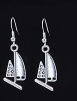 cheap -Women's Cross Body Drop Earrings - Anchor Dangling Style, Renaissance Black / Silver For Gift / Going out
