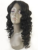 cheap -Remy Human Hair Lace Front Wig Wig Peruvian Hair Wavy Layered Haircut 130% Density With Baby Hair / Natural Hairline / For Black Women Black Women's Short / Long / Mid Length Human Hair Lace Wig
