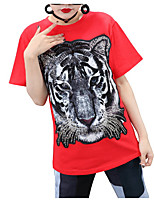 cheap -Women's Street chic T-shirt - Animal