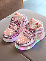 cheap -Girls' Shoes PU(Polyurethane) Fall & Winter Comfort Sneakers Walking Shoes Sparkling Glitter / LED for Kids Gold / Silver / Pink