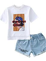 cheap -Kids Girls' Print Sleeveless Clothing Set