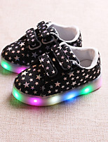 cheap -Boys' / Girls' Shoes PU(Polyurethane) Spring / Fall Comfort / Light Up Shoes Sneakers Magic Tape / LED for Kids / Baby White / Black / Pink