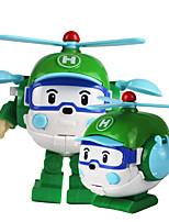 abordables -Petites Voiture Hélicoptère Transformable Carcasse de plastique Tous Enfant Cadeau 1 pcs