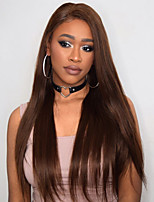 cheap -Synthetic Lace Front Wig Straight Layered Haircut / Middle Part Synthetic Hair Soft / Heat Resistant / Women Brown Wig Women's Long Lace Front / Yes