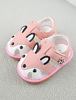 cheap -Girls' Shoes Faux Fur Spring & Summer First Walkers Sandals Walking Shoes Magic Tape for Toddler Blue / Pink