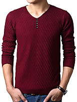 cheap -Men's Active / Basic Pullover - Solid Colored